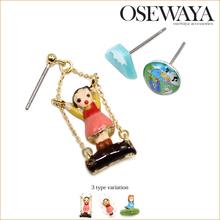 fashion stud accesories unique cartoon charm earring