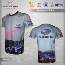 Subaru Wrx Sti Full Sublimation T-Shirt / Wholesale Sublimation Custom T Shirts / Car Racing Training Sublimation Tee Shirts