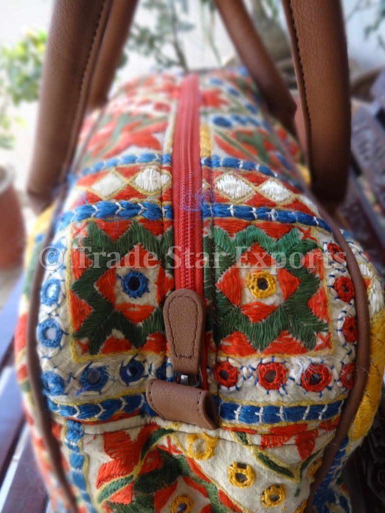 Rajasthani Handmade Mirror Work Embroidery Bag View