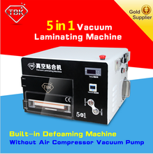 5 in 1 Vacuum pump glass oca lamination machine for mobile lcd mobile refurbish kit glass Lcd rebuild machines