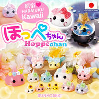 Japanese Hoppechan figurines as kawaii cabochons wholesale in a variety of colors