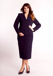 women formal office suit with skirt