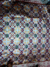 110 CM OR 44 INCHES WIDE HIGH QUALITY HAND WOVEN MADE CROSS BROCADES FABRIC FOR VESTMENT