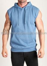 Open Sleeve Best Quality Gym Shirt / Fleece Sleeveless Shirt Hoodie