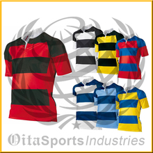 rugby jerseys free custom Sublimation rugby jersey fabric rugby jersey green and yellow in thailand