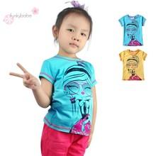 Fashion Girls Story Quality O-Neck Cotton Children's T-Shirts