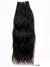 7A qualité supérieure droite soyeuse non transformés brésilienne cheveux gros, 100% brésilienne Remy cheveux