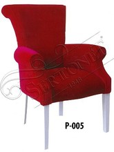 modern sofa set fabric armchair red single chair