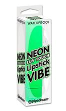 PD1156-16 Green Neon Luv Touch Vibrating Lipstick Vibe