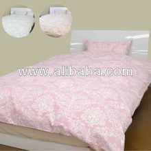Printing bedding , futon covers , bedsheets , pillowcases using cotton fabric made in Japan