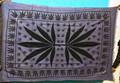 Rasta colcha de la hoja del cáñamo,manta de picnic, tiro playa, tapices ,colchas de algodón en telares manuales india