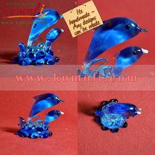 Lampworking Flameworking cristal hechos a mano escultura de delfines