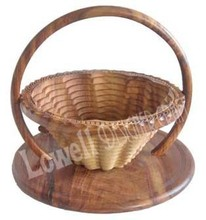 WOODEN FRUIT BASKET with different color