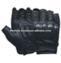 gloves leather fingerless motorcycle glo