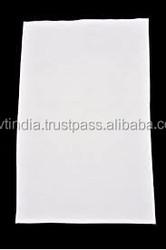 plain white organic cotton tea towel