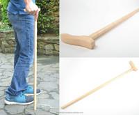 Handmade designer varnished light wooden walking stick with art carving for men