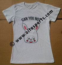 Factory Wholsale Fashional Colourful Sexy Ladies T Shirt/Garment/Clothes/Singlet