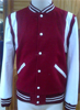 white and red colour leather motorcycle jackets for men