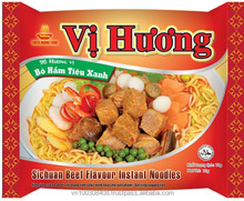 DELICIOUS & QUALITY INSTANT NOODLE 70g WITH SPICY BEEF FLAVOUR - Thien Huong Food JSC