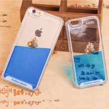 New Arrival 3D Dynamic Corsair Transparent Clear Phone Case back cover for iphone6 plus