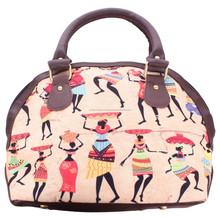 Wholesale Sublimation Custom Cool Summer Multicolor Elegant Stylish Tribal Digital Print Canvas Shoulder Handbag For Lady Women