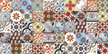 Encaustic cement tiles CTS Patchwork RED
