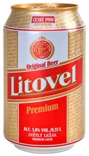 Czech Beer Litovel Premium in 0.33 l Can
