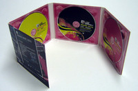 8 Panel dvd digipac with dvd movie in slipcase then shrink wrap packing