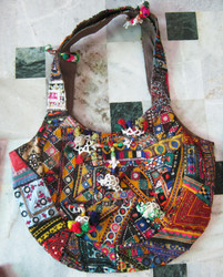 ladies designer handbags / ethnic boho hippie tote bag online
