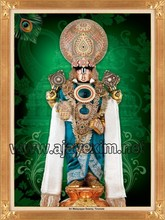 Shri Malayappa Swamy poster with Gold Glittering Effect