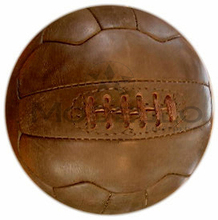 Antique Brown Leather Soccer Ball