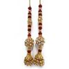 Sewing Red Tassel Beaded Latkan Blouse Sari Accessories Craft Supplies Trim Lace India 1 Pair FRA33B