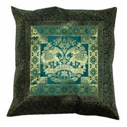 Beautiful Luxury Designs Brocade Silk Cushion Covers Online