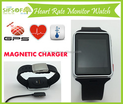 Bluetooth Heart Rate Monitor Pedometer, Built-in GPS, Skin Temperature Sensor, Smart Watch with Magnetic Charger, SIFWATCH-5.9
