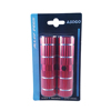 "ASOGO Bicycle Alloy Foot Pegs 28 x 100mm x 3/8"" Red"
