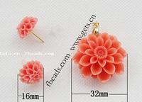 Gets.com synthetic coral poparazzi earring beads