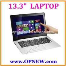 Super Slim 13.3 inch dual core Laptop computer PC wm8880 cpu 1.52Ghz with Bluetooth RJ45 port HDM 1GB DDRII 16GB SuperSlim