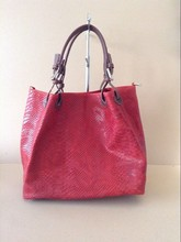 Woman bag genuine leather printed leather bag made in Italy