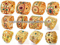 Indian traditional kundan polki bangles-2015 wholesale designer bangles bracelets kada - ladies fancy bracelets - indian bangles