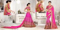Lite Purple Color With Aplic work & zari 4inch heavy border Fantastic Designer Sarees