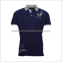 polyester /cation blend men polo shirt slim fit