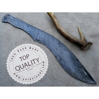 York Vivant, Custom Handmade Damascus Steel Kukri Fixed Blade knife YV-k1 Full Tang & Full Damascus Blank Blade