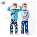 Popular buena calidad recortada patrón de invierno pijamas para Junior Boys
