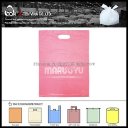 PINK COLOR WHITE PRINT DIE CUT SHOPPING BAG FOR JAPANESE MARKET