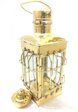 Old ship cargo lamp and oil operate