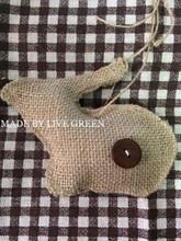 T221, LIVEGREEN Handmade Burlap Ornament Rabbit Ornament
