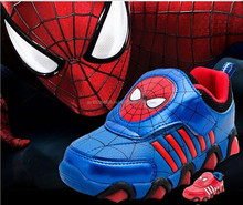 Boy's shoes, spiderman sports shoes spiderman lamp shoes, student spiderman MLS-059