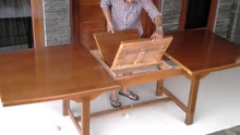 new design extandable dining table with modern wood