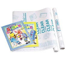 """18"""" X 4.5 Ft. Clear Self Adhesive Book Cover"""