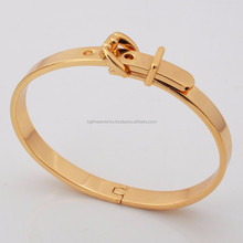 Brand Bangle Unisex Women/Men Jewelry Wholesale Platinum/18K Gold Plated Belt Bangle